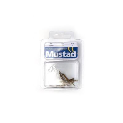 10 Mustad Ryder-Haken #2