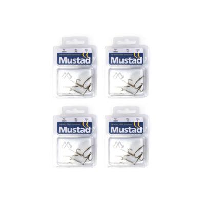 4 x 10 Mustad Ryder-Haken - Hakengröße nach Wahl